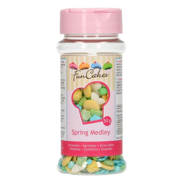 Sprinkle medley Primavera 50 g FunCakes - Funcakes in vendita su Sugarmania.it