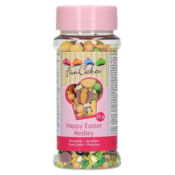 Sprinkle medley Buona Pasqua 65 g FunCakes - Funcakes in vendita su Sugarmania.it
