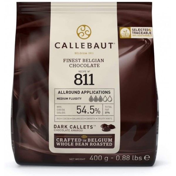 Cioccolato fondente belga n. 811 Callebaut 400 g - Callebaut in vendita su Sugarmania.it