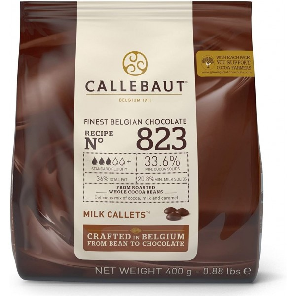 Cioccolato al latte belga n. 823 Callebaut 400 g - Callebaut in vendita su Sugarmania.it