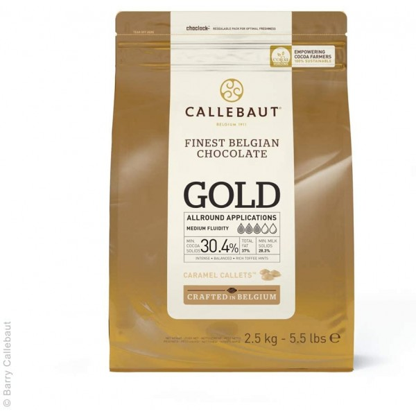 Cioccolato belga Gold Callebaut 2,5 kg - Callebaut in vendita su Sugarmania.it