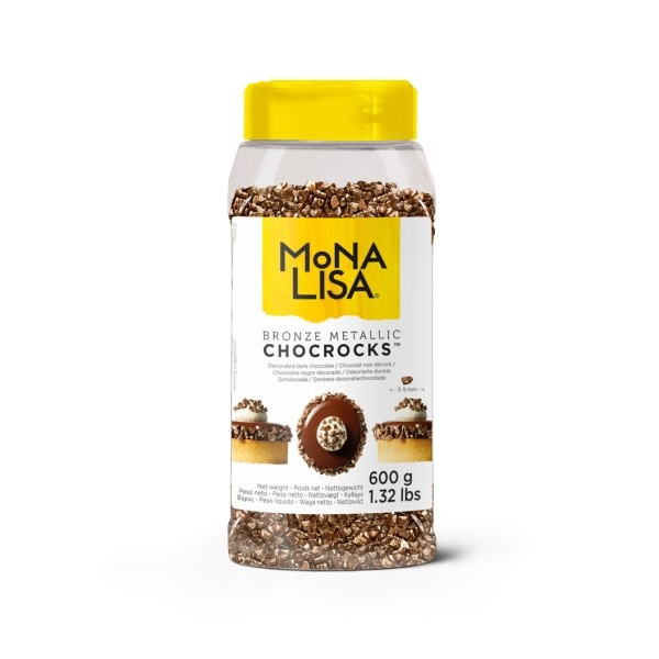 Chocrocks bronzo Mona Lisa Callebaut 600g - Callebaut in vendita su Sugarmania.it