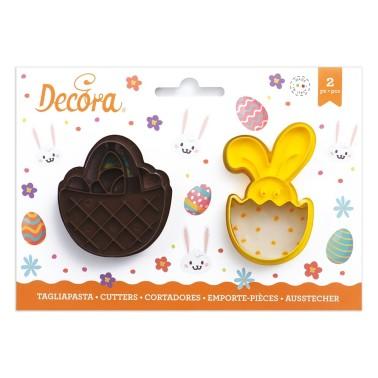 Tagliapasta cestino e bunny Decora - Decora in vendita su Sugarmania.it