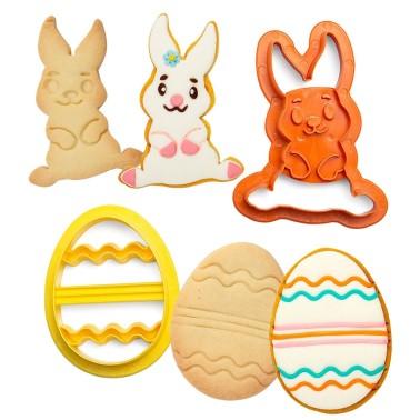 Tagliapasta coniglio e uovo decorato Decora - Decora in vendita su Sugarmania.it