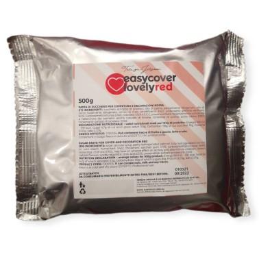Pasta di zucchero rossa Easy Cover Lovely Red 500 g - Terezie Jirsova in vendita su Sugarmania.it