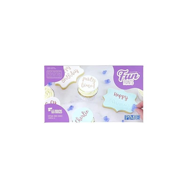 Stampi lettere e numeri per biscotti Fun Fonts PME - PME in vendita su Sugarmania.it
