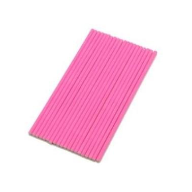 Bastoncini per cake pops rosa fluo 15 cm 20 pezzi - Silikomart in vendita su Sugarmania.it
