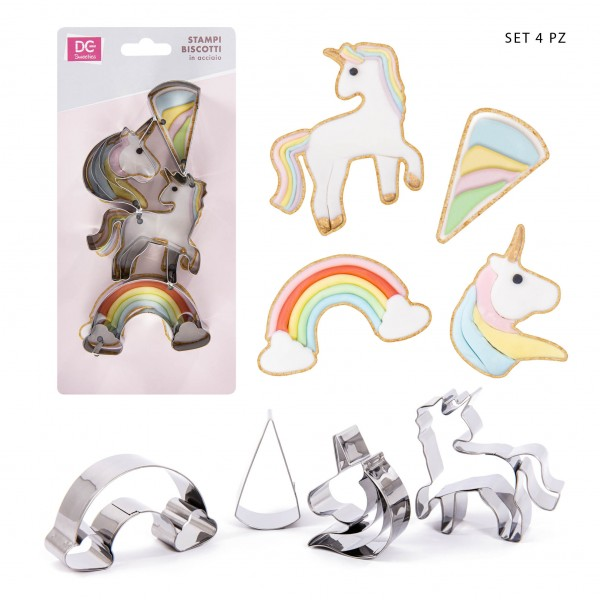 Set 4 tagliabiscotti Unicorno - DC Casa in vendita su Sugarmania.it