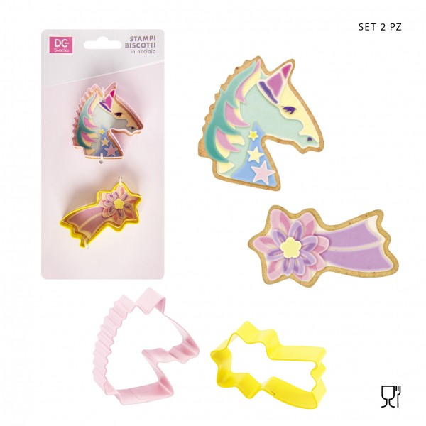 Set 2 stampi Unicorno e stella cometa - DC Casa in vendita su Sugarmania.it