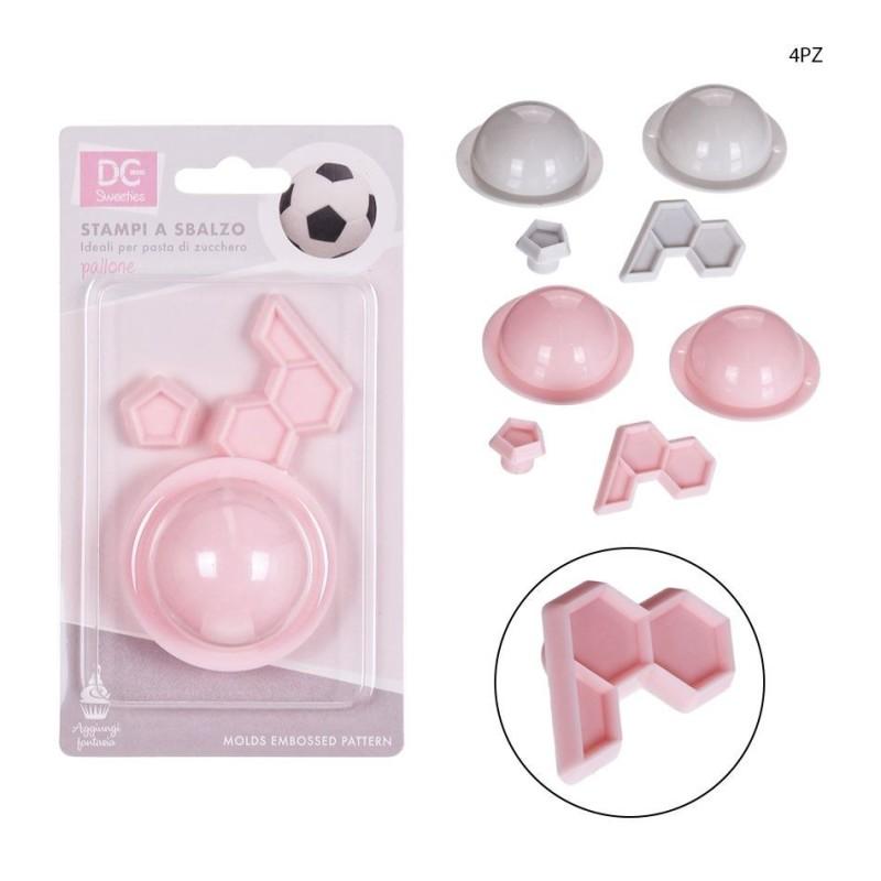 Mould pallone da calcio 4 pezzi - DC Casa in vendita su Sugarmania.it
