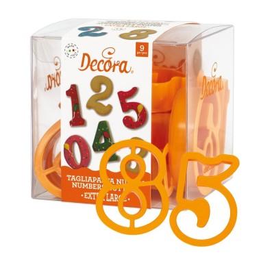 Set tagliapasta numeri extra large Decora  - Decora in vendita su Sugarmania.it