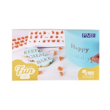 Stampi lettere Pme a impressione Fun Fonts stampatello - PME in vendita su Sugarmania.it