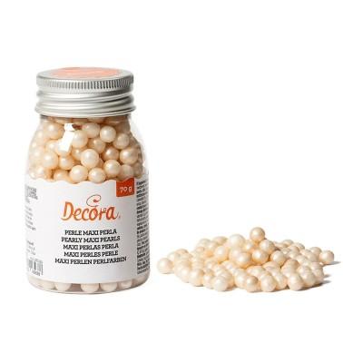 Maxi perle di zucchero perla Decora 70 g - Decora in vendita su Sugarmania.it