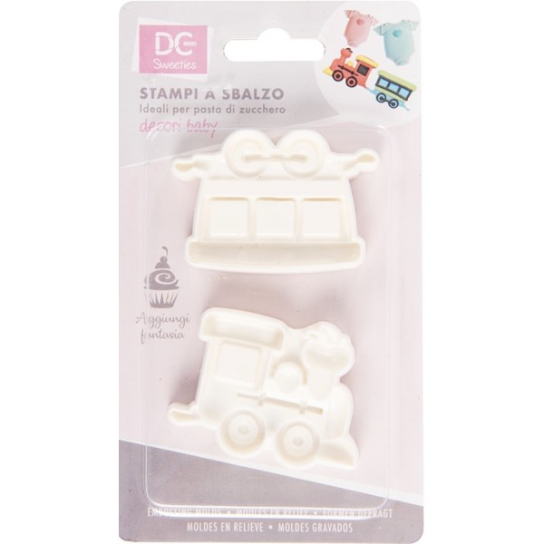 Set 2 stampi 2D trenino - DC Casa in vendita su Sugarmania.it