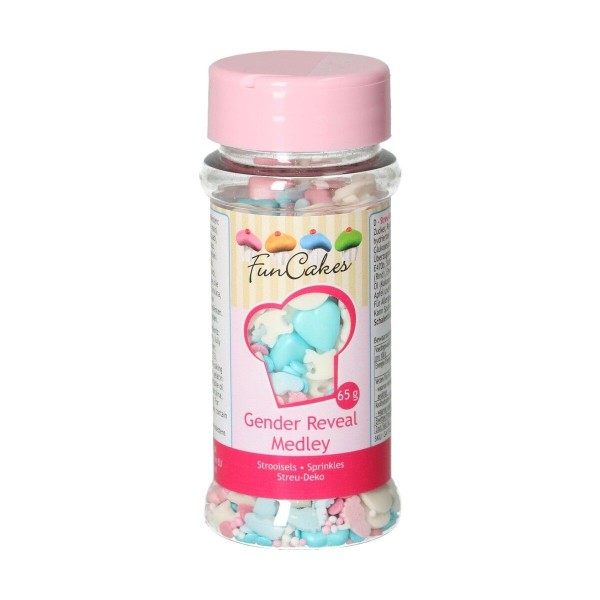 Sprinkle Gender Reveal Medley 65 g FunCakes - Funcakes in vendita su Sugarmania.it