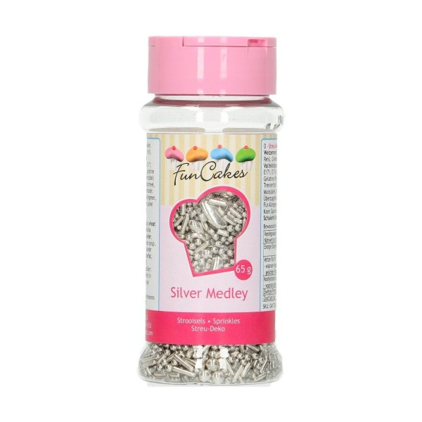 Sprinkle Silver Medley 65 g FunCakes - Funcakes in vendita su Sugarmania.it