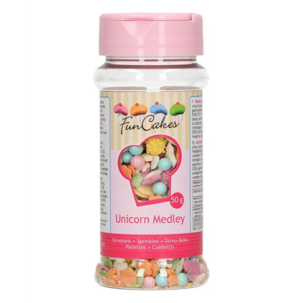 Sprinkle Unicorn Medley 50 g FunCakes - Funcakes in vendita su Sugarmania.it