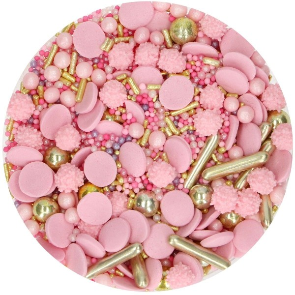 Sprinkle Glamour pink 65 g FunCakes - Funcakes in vendita su Sugarmania.it
