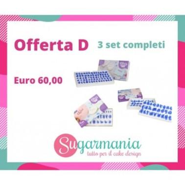 Offerta completa di 3 stampi Fun Fonts Pme  - PME in vendita su Sugarmania.it