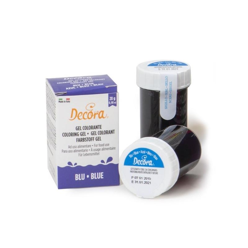 Colorante alimentare blu in gel Decora 28 g - Decora in vendita su Sugarmania.it