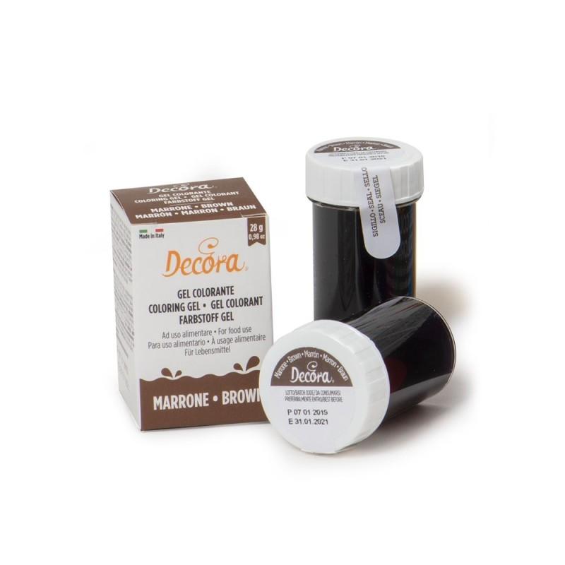 Colorante alimentare marrone in gel Decora 28 g - Decora in vendita su Sugarmania.it