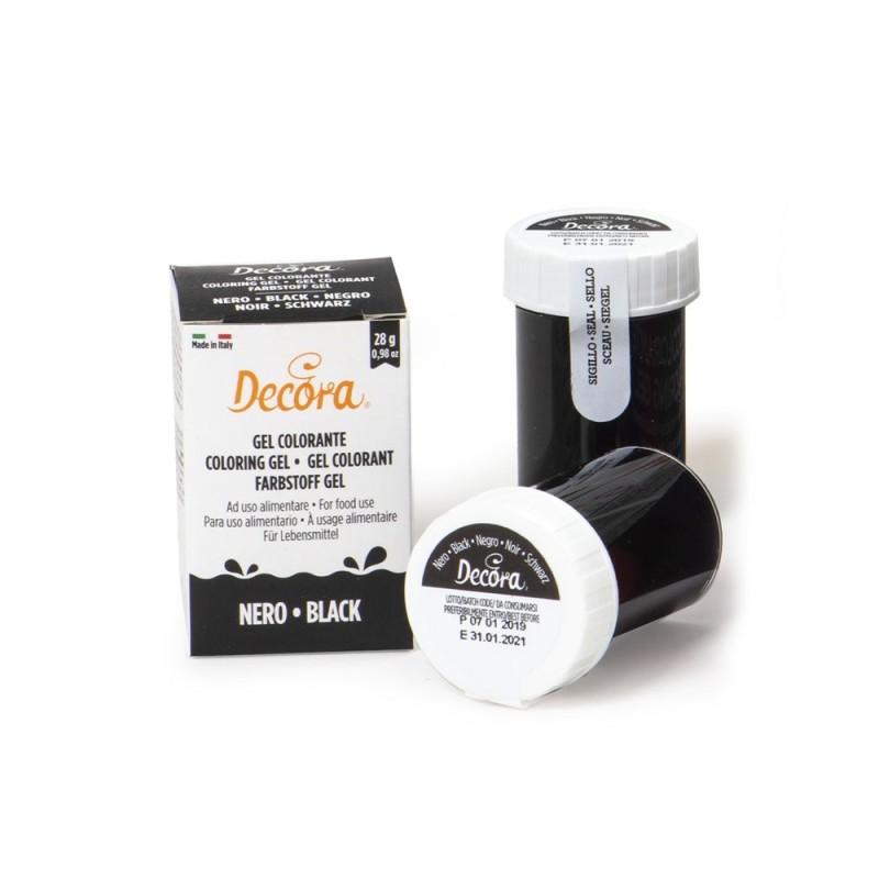 Colorante alimentare nero in gel Decora 28 g - Decora in vendita su Sugarmania.it