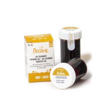 Colorante alimentare oro in gel Decora 28 g - Decora in vendita su Sugarmania.it
