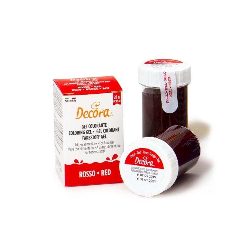 Colorante alimentare rosso in gel Decora 28 g - Decora in vendita su Sugarmania.it