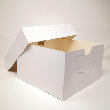 Scatola per torta bianca 33x33x15 cm - Sugarmania in vendita su Sugarmania.it