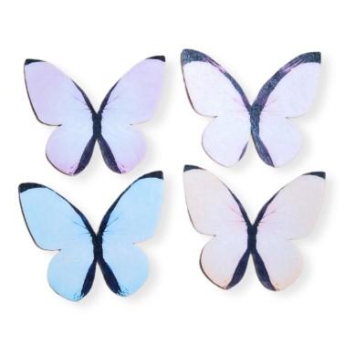 Farfalle in cialda mix pastello 87 pezzi  - Terezie Jirsova in vendita su Sugarmania.it