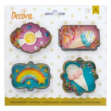 Set 4 Tagliapasta Cornici mini Decora - Decora in vendita su Sugarmania.it