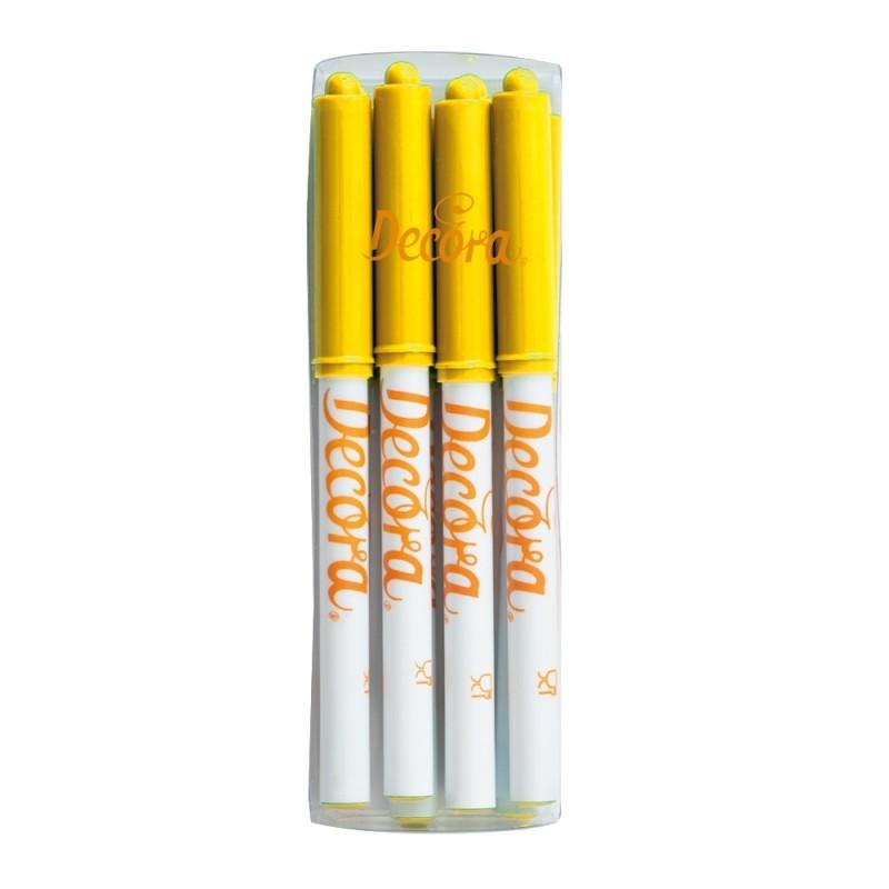 Pennarello alimentare giallo Decora - Decora in vendita su Sugarmania.it