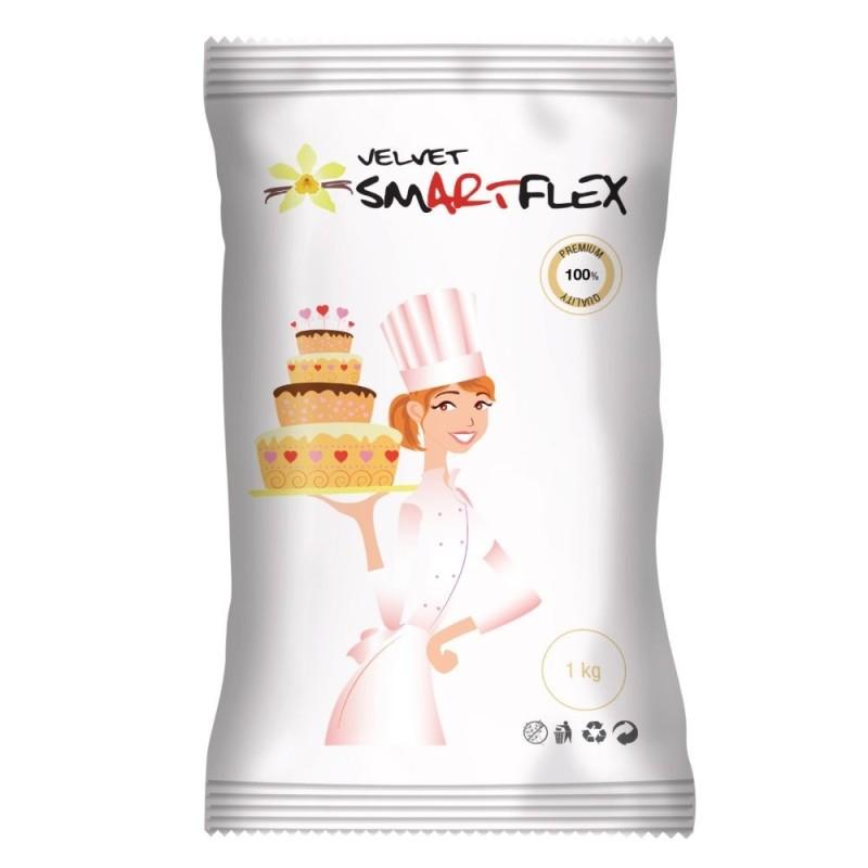 Pasta di zucchero bianca SmartFlex Velvet 1 kg - SmartFlex in vendita su Sugarmania.it