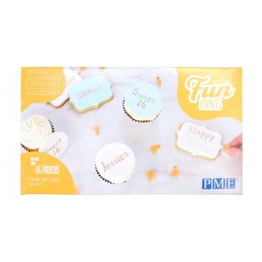 Stampi lettere e numeri per biscotti stampatello Fun Fonts PME - PME in vendita su Sugarmania.it