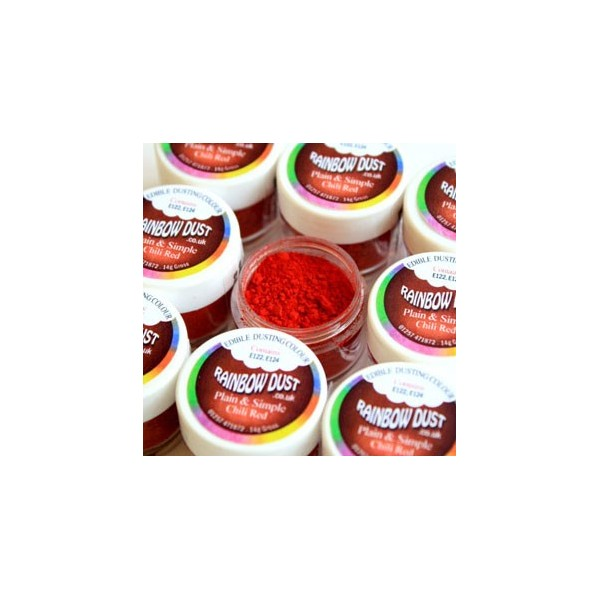 Plain&Simple - Chili Red - Rainbow Dust in vendita su Sugarmania.it