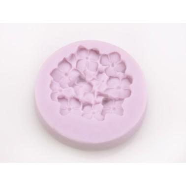 Stampo in silicone Ortensie tondo -  in vendita su Sugarmania.it