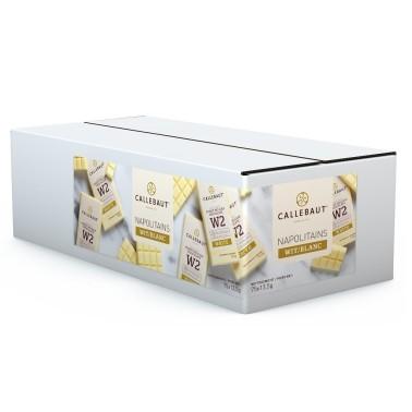 75 pezzi x 13,5 g Napolitains cioccolato bianco W2 Callebaut  - Callebaut in vendita su Sugarmania.it