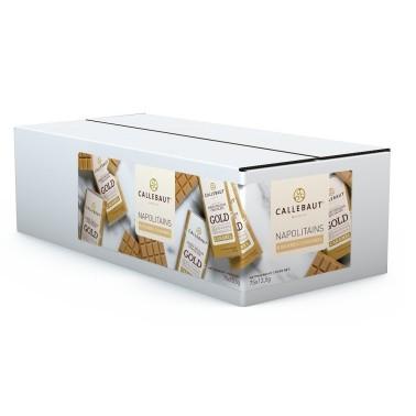 75 pezzi x 13,5 g Napolitains cioccolato Gold Callebaut  - Callebaut in vendita su Sugarmania.it