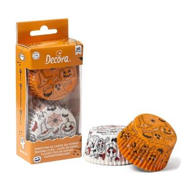 Pirottini Zucca e fantasma Decora 36 pezzi - Decora in vendita su Sugarmania.it