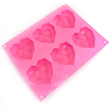Stampo silicone cuore diamante 6 cavità - Happy Sprinkles in vendita su Sugarmania.it