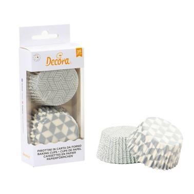 Pirottini geometrici argento Decora 36 pezzi - Decora in vendita su Sugarmania.it
