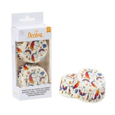 Pirottini white magic unicorn Decora 36 pezzi - Decora in vendita su Sugarmania.it