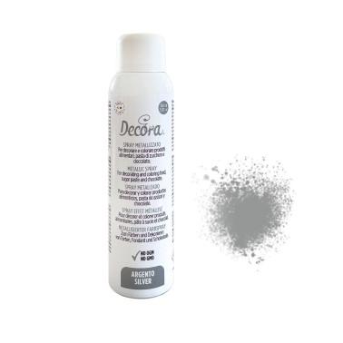 Spray alimentare Argento decora 150 ml - Decora in vendita su Sugarmania.it