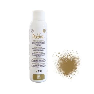 Spray alimentare oro Decora 150 ml - Decora in vendita su Sugarmania.it