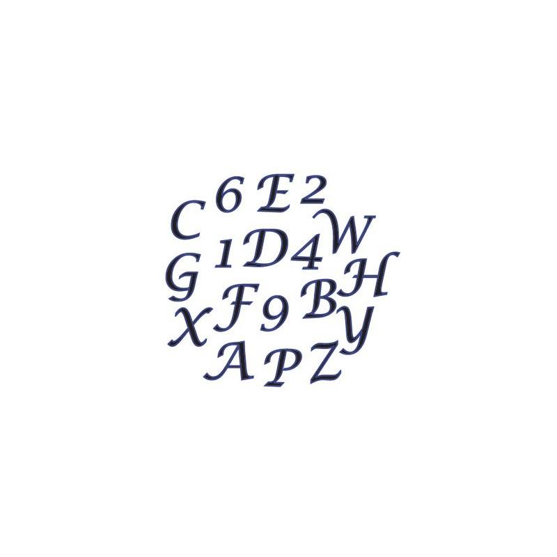 FMM Alphabet & Numbers tappits Upper Case SCRIPT - in vendita su Sugarmania.it