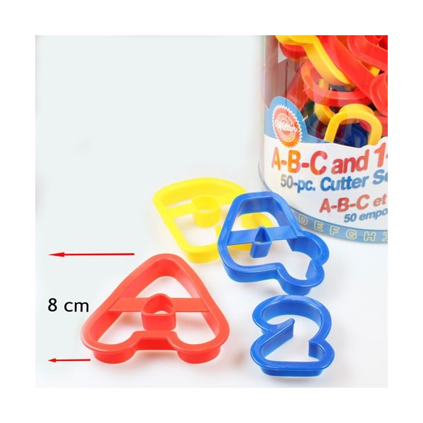 Wilton A-B-C and 1-2-3 Cutter Set/50 - Wilton in vendita su Sugarmania.it
