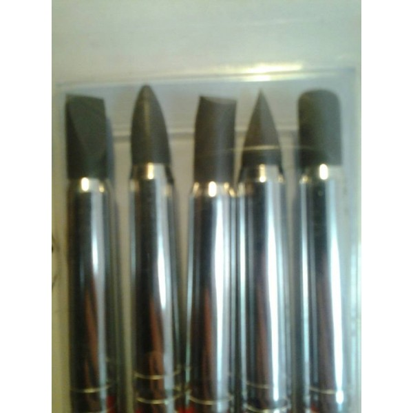 Set 5 pennelli in silicone misura 6