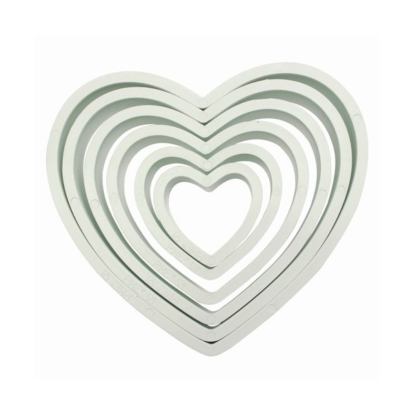 PME Plastic Cutter Heart Set/6 - PME in vendita su Sugarmania.it