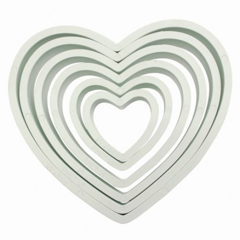 PME Plastic Cutter Heart Set/6 - PME in vendita su Sugarmania.it