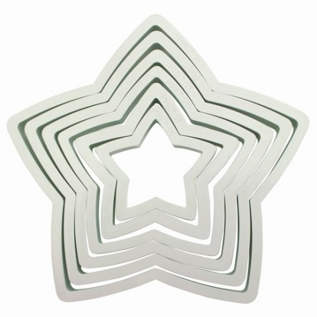 PME Plastic Cutter Star Set/6 - PME in vendita su Sugarmania.it